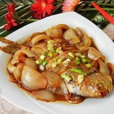洋葱片红烧鲳鱼的做法