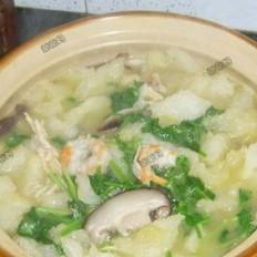 鱼肚虾仁鸡汤砂锅的做法