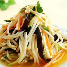 金针菇拌杂蔬的做法