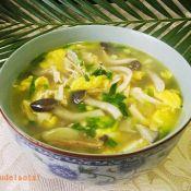 鸡丝秀珍菇蛋汤