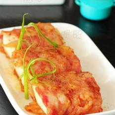 泡菜豆腐培根卷的做法