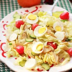 杏鲍菇蔬菜沙拉的做法