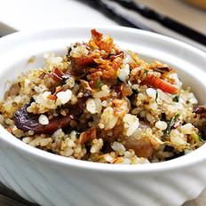 茼蒿藜麦饭的做法