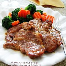 香煎梅花肉的做法