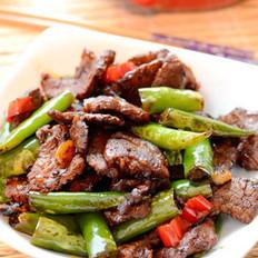 小尖椒炒水煮牛肉