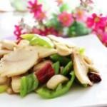 青椒白灵菇