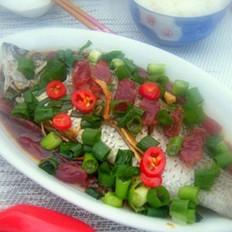 腊肠蒸鱼的做法