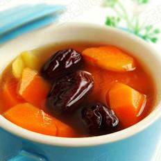 胡萝卜红枣姜片汤的做法