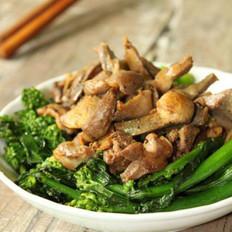 鸡杂猪油炒芥兰