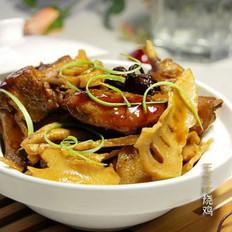 玉兰片烧鸡肉的做法