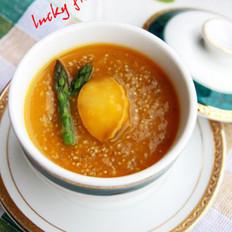 金瓜汁藜麦煮鲜鲍的做法