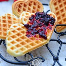蓝莓华夫饼的做法