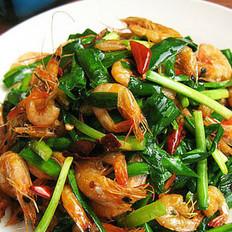 春韭炒河虾的做法