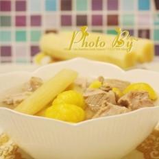 甘蔗栗子煲排骨汤的做法