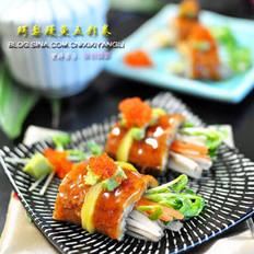鳄梨鳗鱼五彩卷