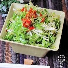剁椒拌苦菊的做法
