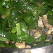 韭菜炒螺蛳肉