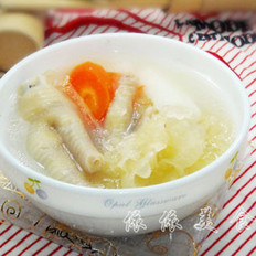 淮山银耳鸡脚汤的做法