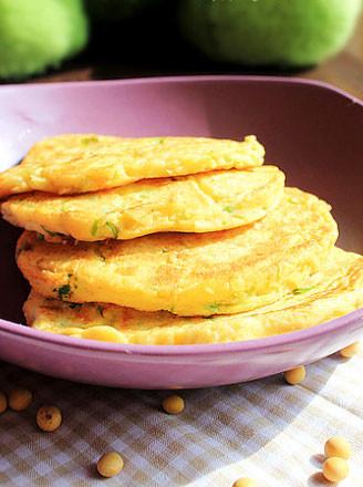 葱花鸡蛋豆渣饼的做法