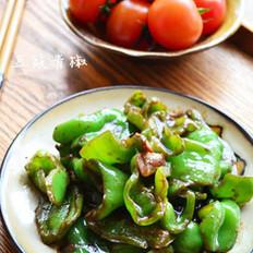 豆豉青椒的做法