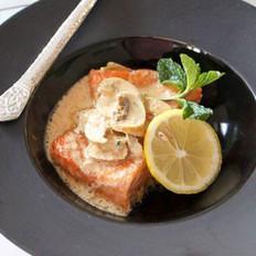 薄荷白菇咖喱三文鱼