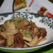 杏鲍菇炖腊鸭