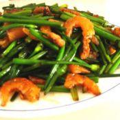 小炒韭菜花虾仁的做法