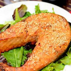 芝麻照烧三文鱼排的做法
