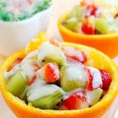 橙盅酸奶水果沙拉的做法