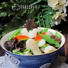 荸荠荷兰豆炒木耳的做法