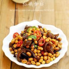酱肉皮炒黄豆的做法
