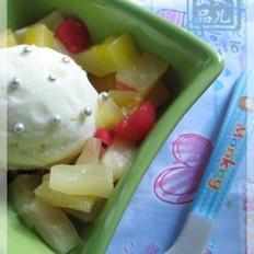 水蜜桃果肉雪糕