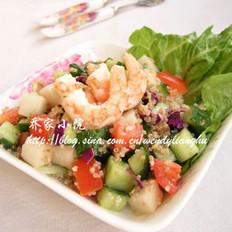 藜麦鲜虾蔬菜沙拉