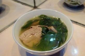 枸杞菜猪肝汤的做法