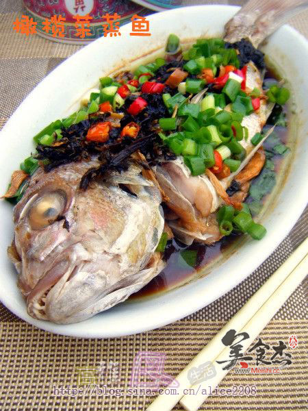橄榄菜蒸鱼的做法【步骤图】_菜谱_美食杰