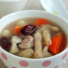 红枣莲子鸡爪汤的做法
