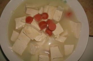 牛奶豆腐汤的做法