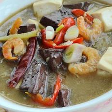 虾仁烩双色豆腐的做法