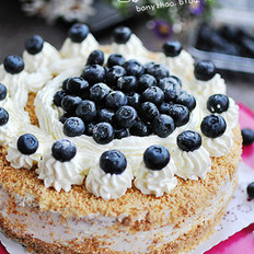 藍莓裝飾蛋糕的做法