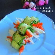 韩式辣酱黄瓜卷的做法