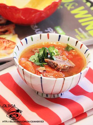 番茄牛肉羹的做法