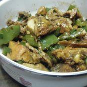 柿子椒炒烤鸡