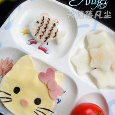 肉泥豆腐KT猫套餐的做法