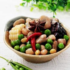 五味卤豆的做法
