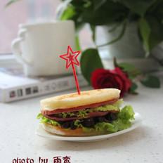香菇酱火腿三明治的做法
