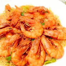 沙茶米粉吮指虾的做法