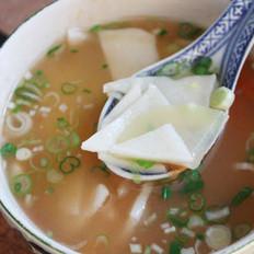 番茄土豆面片汤的做法