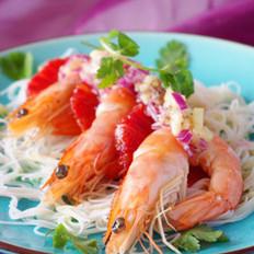 血橙大虾沙律
