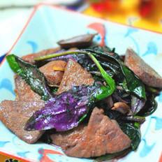 紫背天葵滑肝尖的做法