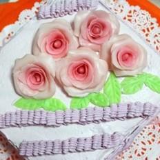 巧克力玫瑰生日蛋糕的做法